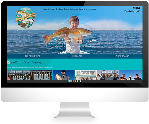 fishing charter website for porfolio
