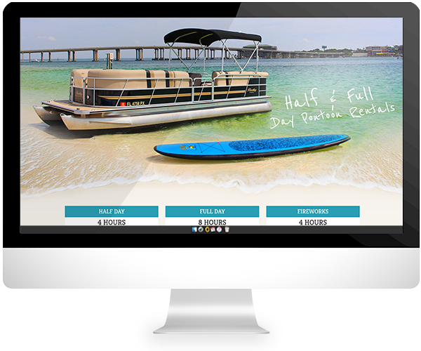 pontoon rentals website design